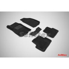 Ворсовые 3D коврики SeiNtex для Chevrolet Aveo II 2011-н.в.