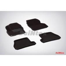 Ворсовые 3D коврики SeiNtex для Ford Focus III АКПП 2011-2015