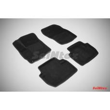 Ворсовые 3D коврики SeiNtex для Mitsubishi Outlander II (XL) 2006-2012